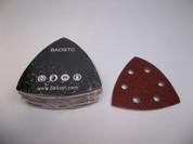 "BAOSTC delta velcro sanding pad,3 3/4""*3"" 6 holes Assorted 60-80-120,50PACK"