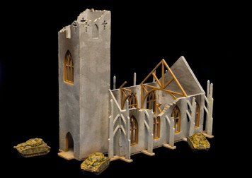 6mm Ruined Church/Cathedral (Matboard) - 285CSS032
