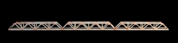Truss Bridge, Triple Span, 2 Lane (Acrylic) - 285ROAD039-2