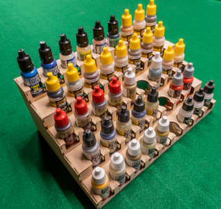 Paint Rack - 26mm, For Vallejo and Army Painter Style Dropper Bottles