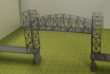 Steel Lift Bridge (Matboard) - 285CSS036
