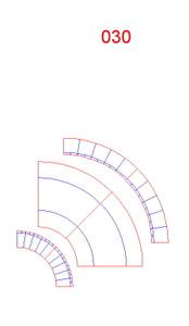 45 Degree Curve, Single Lane, 2 Pieces - 285ROAD030