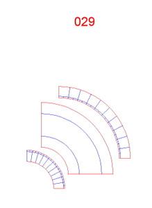 90 Degree Curve, Single Lane - 285ROAD029