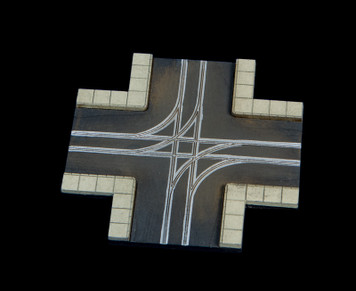 4 Way Crossing, 2 LaneRoad - 285ROAD064