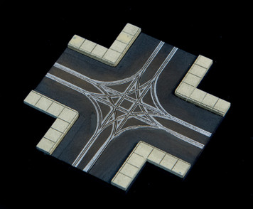 4 Way Crossing, 2 LaneRoad - 285ROAD065