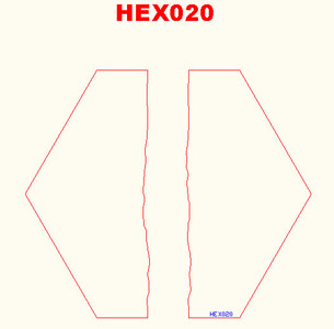 Straight River Hex - 285HEX020