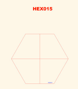 Quarter Hexes (4) - 285HEX015