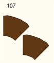 45 Degree Curve, Dirt Road (2 pcs) - 285FELT107