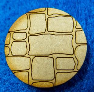 "1"" (25mm) Round Base With Random Stone (MDF)"