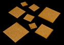"""1"""" (25mm) Square Base - 1/16"""" Clear Acrylic"""