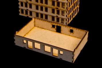 """15mm """"Stackable"""" Building, Ground Floor (MDF) - 15MMDF103-1"""