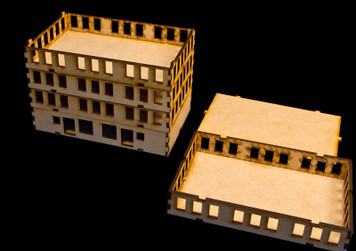"15mm ""Stackable"" Building, Top Floor (MDF) - 15MMDF103-3"