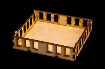 "15mm ""Stackable"" Building, Upper Floors (MDF) - 15MMDF104-2"