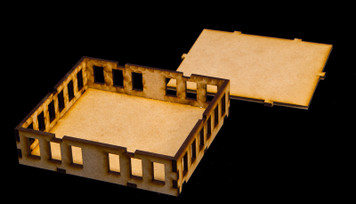 "15mm ""Stackable"" Building, , Top Floor (MDF) - 15MMDF104-3"