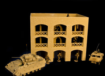 15mm Middle East 3 Story Building w/Removable Floors and Roof (MDF) - 15MMDF151-1