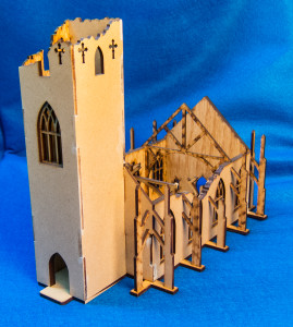 15mm Ruined Church/Cathedral (MDF) - 15MMDF351