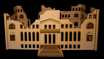 15mm WWII Government Building (MDF) - 15MMDF350-1