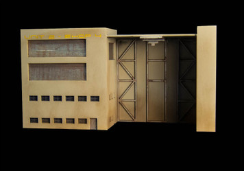 Mech Hangar / Shop (15mm Version)(MDF) - 15MMDF114