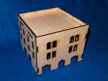 Middle East Three Story Building With Removable Roof (MDF) - 15MMDF027-R