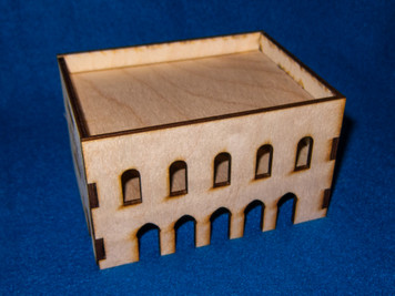 Middle East Two Story Building (MDF) - 15MMDF032
