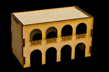 Middle East Two Story Building (MDF) - 15MMDF046