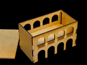 Middle East Two Story Building (MDF) - 15MMDF046-R