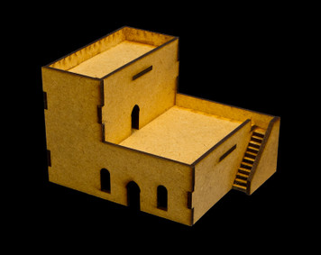 Middle East Two Story Building (MDF) - 15MMDF049