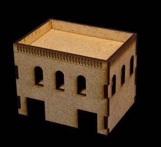Middle East Two Story Building With Removable Roof (MDF) - 15MMDF020-R