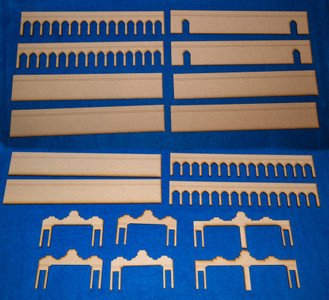 Middle Eastern City Walls (MDF) - 15MMDF083