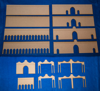 Middle Eastern City Walls (MDF) - 15MMDF084