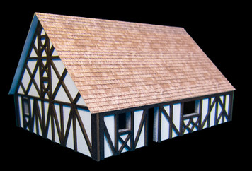 One StoryMedium Half Timber House with attic (MDF) - 15MMDF305
