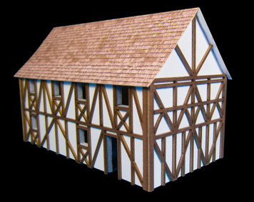 Two Story Large Half Timber House (MDF) - 15MMDF303