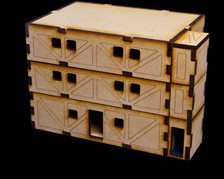 Bottom, Middle and Top floors assembled in one unit.