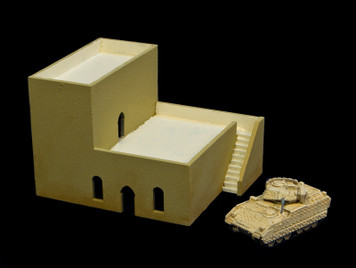 Middle East Two Story Building with Removable Roof - 20MMDF049-R