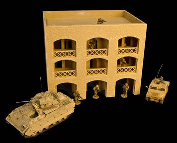 20mm Middle East 3 Story Building w/Removable Floors and Roof - 20MMDF151-1