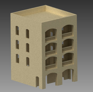 20mm Middle East Four Story Building - 20MMDF154