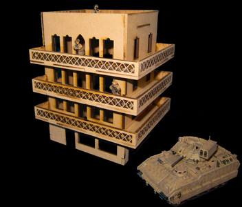 20mm Middle East Four Story Building - 20MMDF157