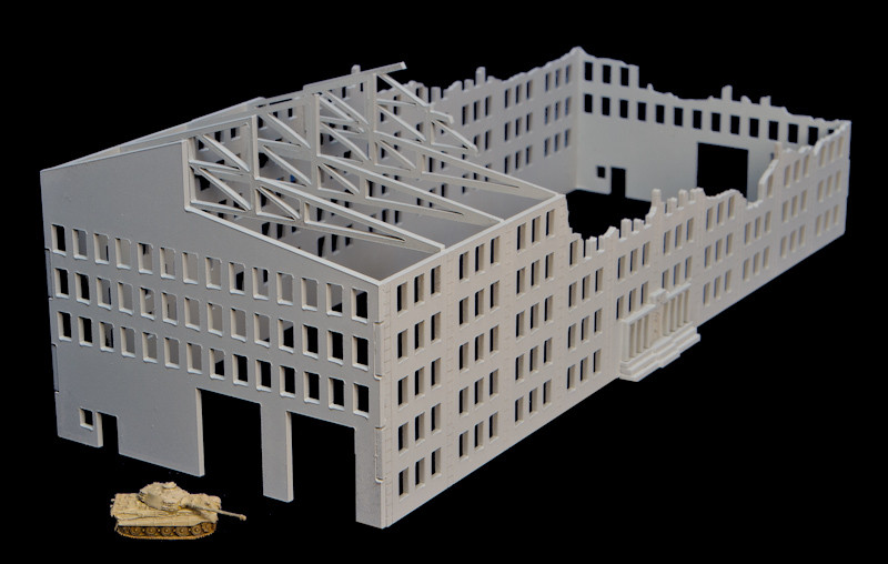 6mm Scale Wargame Factories Industrial Building Scenery 4 items