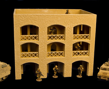 28mm Middle East Three Story Building - 28MMDF152
