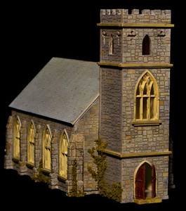 15mm European Country Church - 15MTAV090