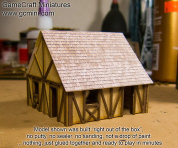 One Story Small Half Timber House  - 10MMDF301