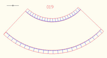 90 Degree Curve, 4 Lane Road, Large Radius - 10MROAD019