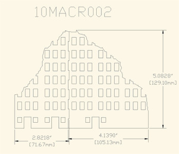 Ruined City Building (Wood) - 10MMDF002