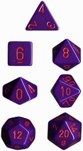 Opaque Polyhedral Purple/red 7-Die Set