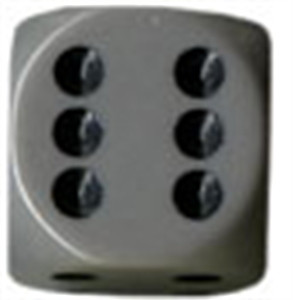 Opaque 16mm d6 Dark Grey/black Dice Block (12 dice)