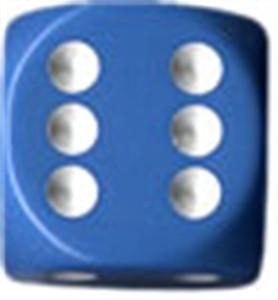Opaque 16mm d6 Light Blue/white Dice Block (12 dice)