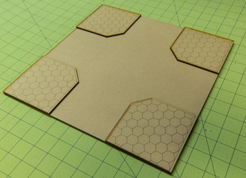 "12"" City Tile - 4 Way Intersection - 15MTILE012"