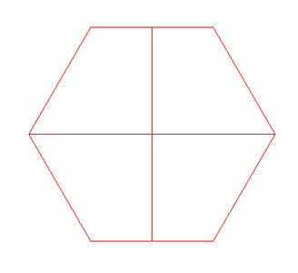 1/4 Corner  Hexes (4) - 15MHEX011