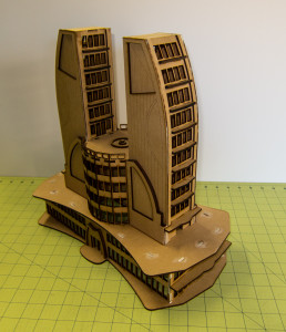 Ultra Modern / Future City Building, Double Tower - 15MTW501