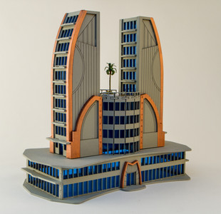 6mm Ultra Modern / Future City Building, Double Tower - 285CSS051